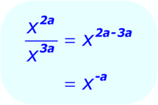 Concept Algebra Expressions with Exponents