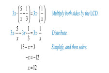 Concept Clearing Denominators in Rational Equations