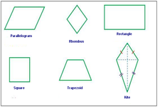 Concept Comparing Rectangles, Squares, Parallelograms