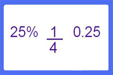 what is a 3-way calculator percent to fraction