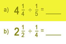 Concept Division of Mixed Numbers by Fractions