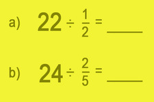 Concept Division of Whole Numbers by Fractions