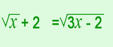 Concept Equations with Radicals on Both Sides