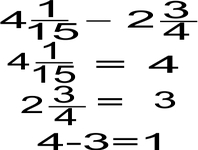 Concept Estimation with Mixed Number/Fraction Subtraction