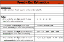 Concept Front-End Estimation