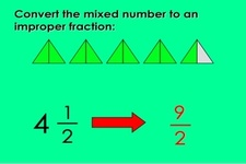 Concept Improper Fractions as Mixed Numbers