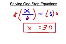 Concept One-Step Equations and Inverse Operations