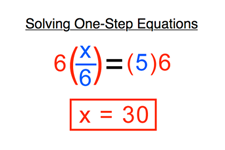 Concept One-Step Equations Transformed by Multiplication/Division
