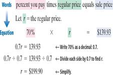Concept Percent Equation to find Percent
