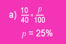Concept Proportions to Find Percent, P