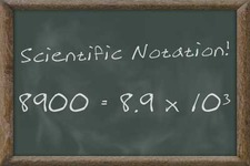 Concept Scientific Notation Values