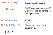 Concept Square Root Applications