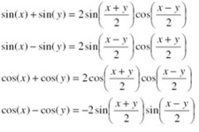 Concept Sum to Product Formulas for Sine and Cosine