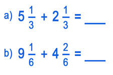 Concept Sums of Mixed Numbers