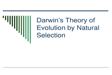 Concept Theory of Evolution by Natural Selection