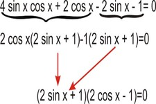 Concept Trigonometric Equations Using Factoring